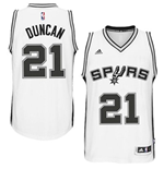 Camiseta San Antonio Spurs Tim Duncan adidas New Swingman Home Blanco