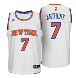 Camiseta New York Knicks Carmelo Anthony adidas New Swingman Home Blanco