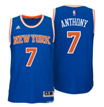 Camiseta New York Knicks Carmelo Anthony adidas New Swingman Road Azul