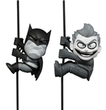 DC Comics Scalers Pack de 2 Minifiguras Black & White Batman & Joker SDCC 2014 Exclusive 5 cm