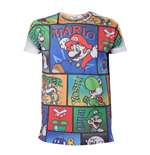 Camiseta NINTENDO Super Mario Bros. All-Over Mario and Co - S