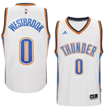 Camiseta Oklahoma City Thunder Russell Westbrook adidas New Swingman Home Blanco
