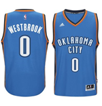 Camiseta Oklahoma City Thunder Russell Westbrook adidas New Swingman Road Azul