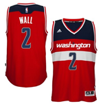 Camiseta Washington Wizards John Wall adidas New Swingman Road Rojo