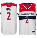 Camiseta Washington Wizards John Wall adidas New Swingman Home Blanco