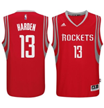 Camiseta Houston Rockets James Harden adidas New Swingman Road Rojo