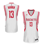 Camiseta Houston Rockets James Harden adidas White New Swingman Home