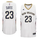 Camiseta New Orleans Pelicans Anthony Davis adidas New Swingman Home Blanco