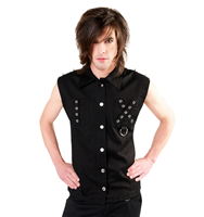 Camisa Black Pistol Punk Denim