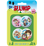 Dr. Slump Pack 4 Chapas Set C