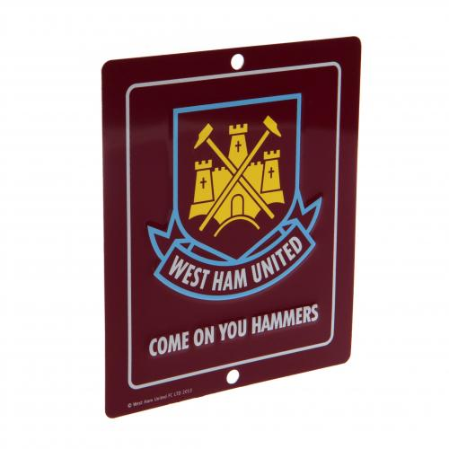 Placa de metal West Ham United