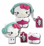"Memoria USB Hello Kitty ""DJ"" 8GB"