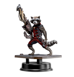 Guardianes de la Galaxia Estatua PVC Action Hero Vignette 1/9 Rocket Raccoon Red Suit Ver. 18 cm