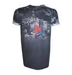 Camiseta PlayStation City Landscape - talla S