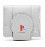 SONY PlayStation One Billetera a forma de Consola con Doble Pliegue, Gris