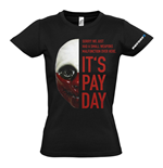 Camiseta PAYDAY 2 Wolf Mask - de mujer - M