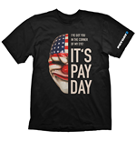 Camiseta PAYDAY 2 Dallas Mask - S