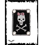 "Parche Queen of Darkness ""Girly Skull"""