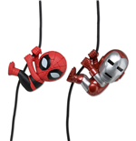 Marvel Comics Scalers Pack de 2 Minifiguras Iron Man & Spider-Man SDCC 2014 Exclusive 5 cm
