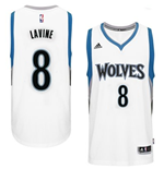 Camiseta Minnesota Timberwolves Zach Wiggins adidas New Swingman Home Blanco