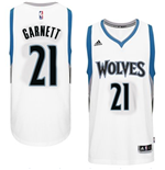 Camiseta Minnesota Timberwolves Kevin Garnett adidas New Swingman Home Blanco