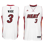 Camiseta Miami Heat Dwyane Wade adidas New Swingman Home Blanco