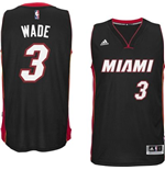 Camiseta Miami Heat Dwayne Wade adidas New Swingman Road Negro