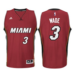 Camiseta Miami Heat Dwyane Wade adidas New Swingman Alternate Rojo