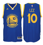 Camiseta Golden State Warriors David Lee adidas New Swingman Road Azul