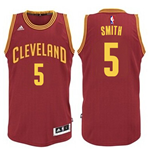 Camiseta Cleveland Cavaliers J. R. Smith adidas New Swingman Road Granate