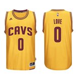 Camiseta Cleveland Cavaliers Kevin Love adidas New Swingman Alternate Amarillo