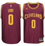 Camiseta Cleveland Cavaliers Kevin Love adidas New Swingman Road Granate