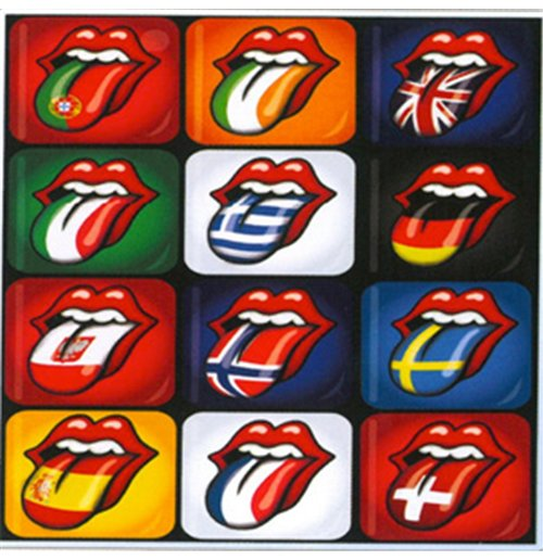 Imán de metal The Rolling Stones - Tongue Evolution