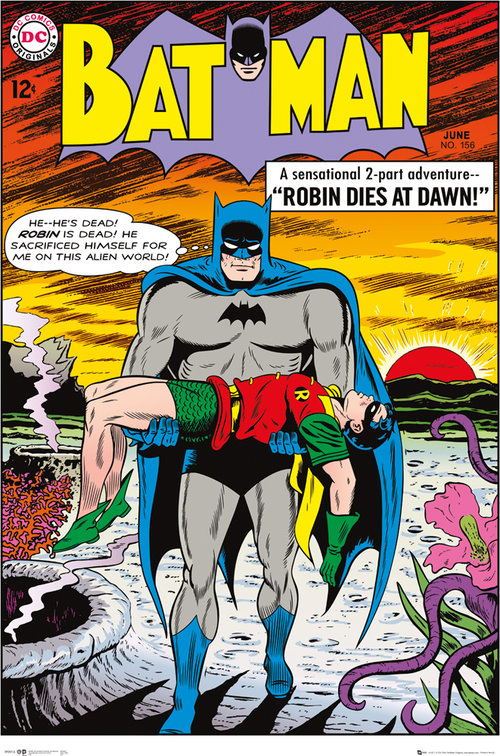 Póster Batman Comic Robin Dies at Dawn