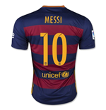 Camiseta FC Barcelona 2015-16 Home (Messi 10) de niño