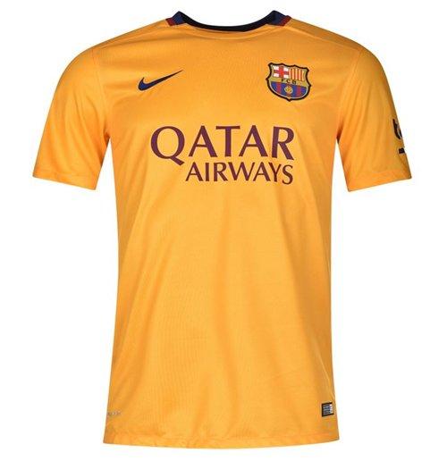 Compra Camiseta FC Barcelona 2015-2016 Away Nike de niño Original c02326f5677