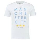Camiseta Manchester City FC 2015-2016 Nike Squad Core Type (Blanco)