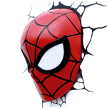 Marvel Comics Lámpara 3D LED Spider-Man Mask
