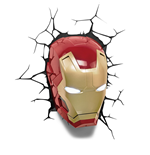 Marvel Comics Lámpara 3D LED Iron Man Mask