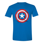 Camiseta Capitán America - Cracked Shield Cobalt