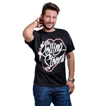 Camiseta The Rolling Stones Neon Lips Script