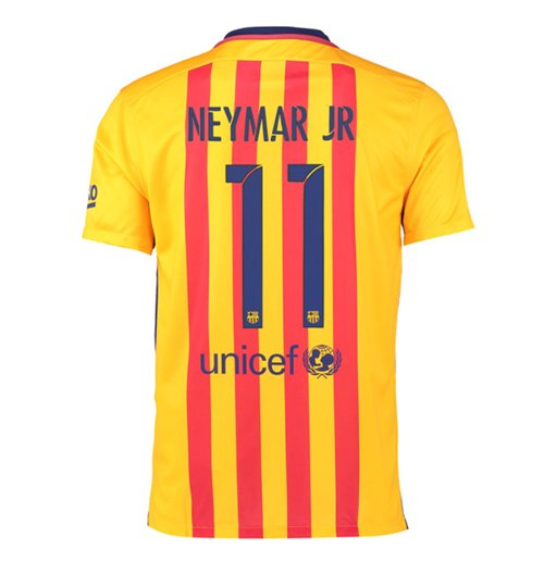 Camiseta FC Barcelona 2015-16 Away (Neymar Jr 11)