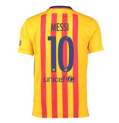Compra Camiseta FC Barcelona 2015-16 Away (Messi 10) de niño 490a0b54068