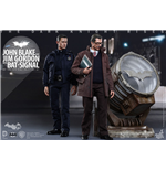Dark Knight Rises Figuras Movie Masterpiece 1/6 John Blake & Jim Gordon with Bat-Signal 30 cm