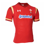 Camiseta Gales Rugby 2015-2016 Home (Rojo)