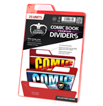 Ultimate Guard Premium Comic Book Dividers Separadores para Cómics Rojo (25)