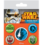 Star Wars Pack 5 Chapas Jedi