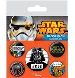 Star Wars Pack 5 Chapas Cult