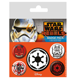 Star Wars Pack 5 Chapas Villains