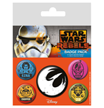 Star Wars Pack 5 Chapas Rebels